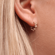 EC One Hannah Bedford Granule Hoops Earrings recycled Yellow Gold