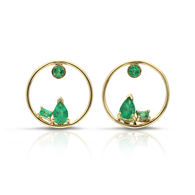 GFG Project 20/20 gold and emerald earrings at EC One