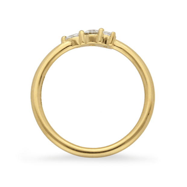 "Small ""Elise"" 18ct Yellow Gold Ring with Diamonds"
