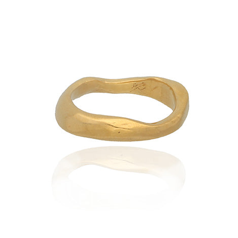 Ella Stern Small Wave Ring gold plated
