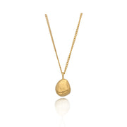 Ella Stern Stone Necklace Gold Plated