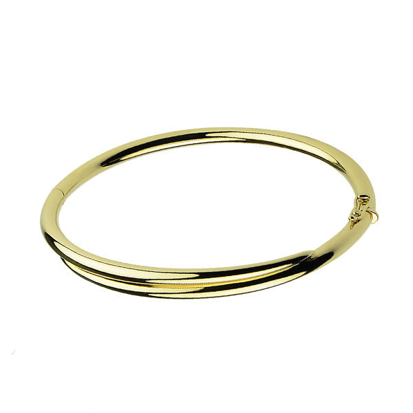 Gold Plated Feather Bangle