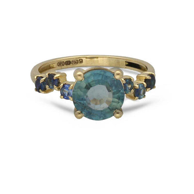 Artisia Blue Sapphire Gold Ring
