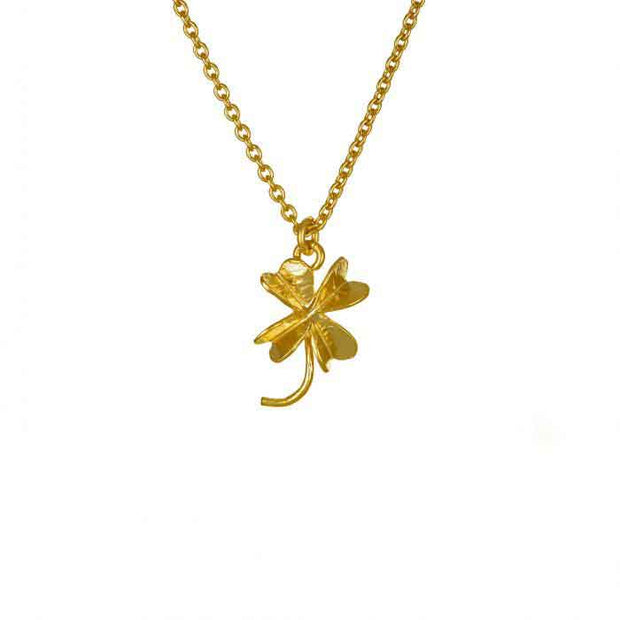 Small Gold plated Clover Necklace