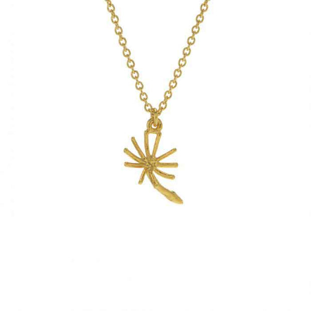 EC One Alex Monroe Dandelion Fluff Necklace Gold Plated