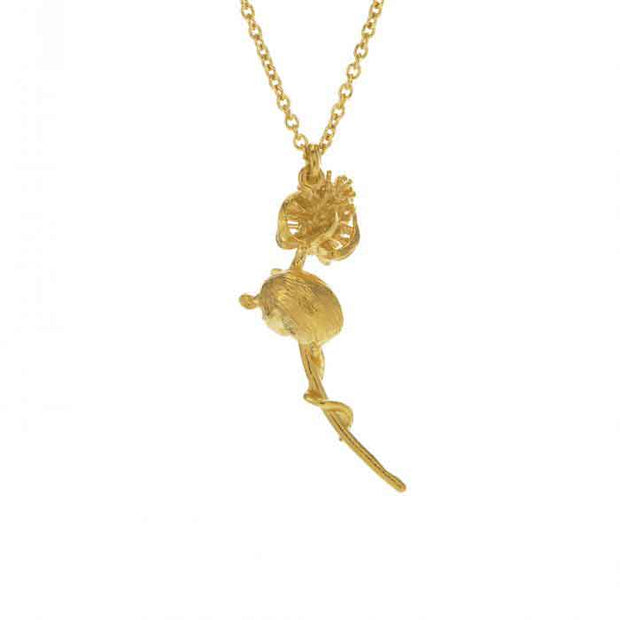 EC One Alex Monroe Harvest Mouse and Teasle Necklace Gold Plated