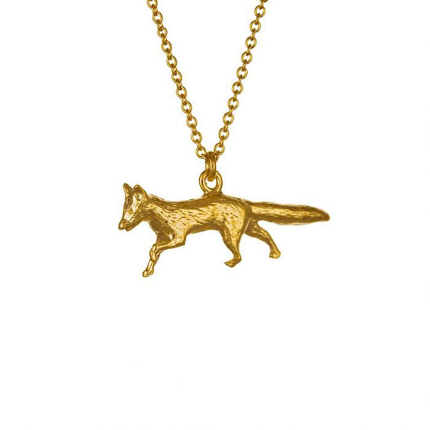 EC One Alex Monroe Prowling Fox Gold Plated Necklace