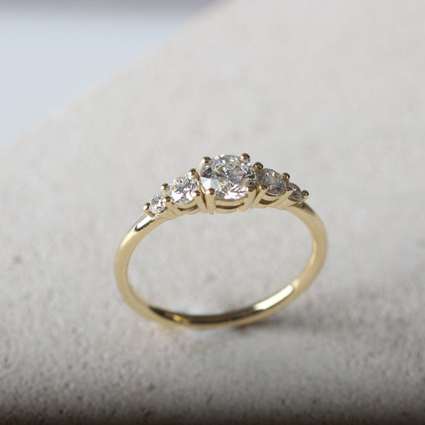 EC One  'Genevieve' recycled Yellow Gold responsibly sourced Diamond engagement ring Ring