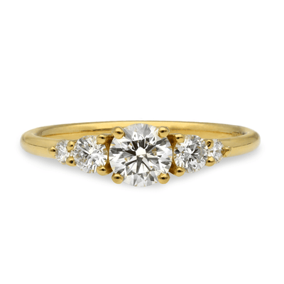 'Genevieve' Yellow Gold Diamond Engagement Ring