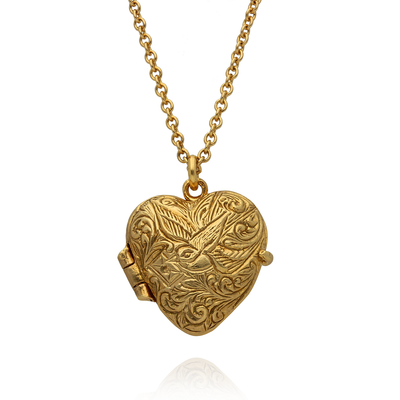 Victoriana Heart Locket Gold Plated