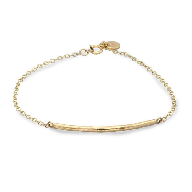 "EC One ""Baby Beat"" 9ct Gold Bar Bracelet"