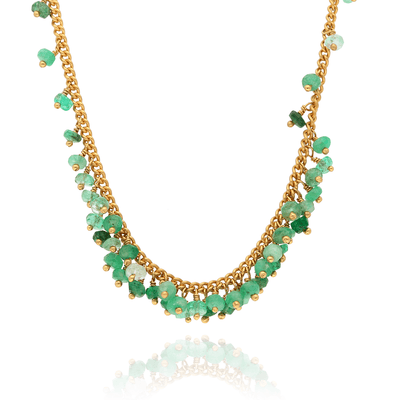EC One Kate Wood Emerald Graduated Necklace