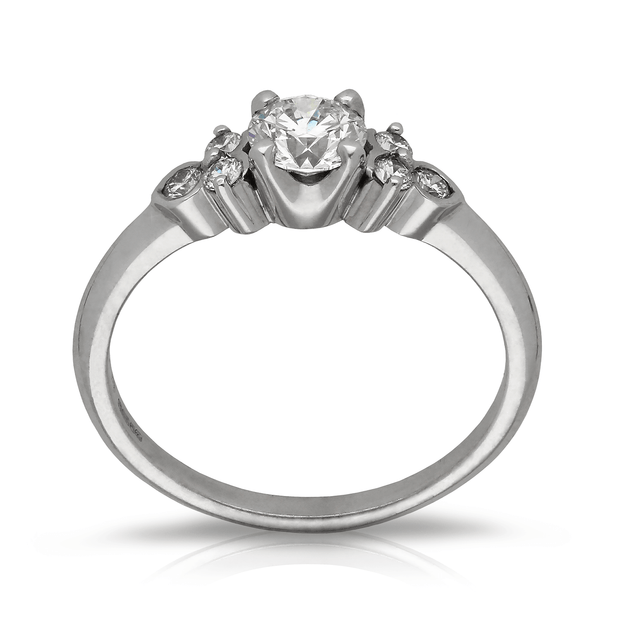 "0.51ct Diamond ""Hatty"" White Gold Engagement Ring"