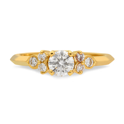 'Hatty' Yellow Gold Diamond Engagement Ring