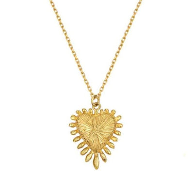 Zoe & Morgan Heart Rays Gold Plated Necklace