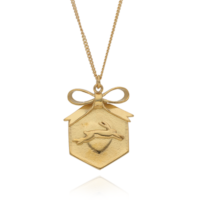 Hexagon Bunny Necklace