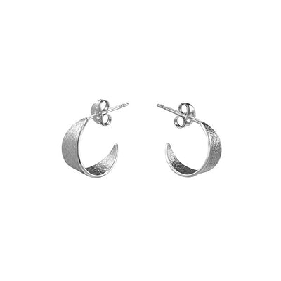 Icarus Small Hoop Earrings Silver