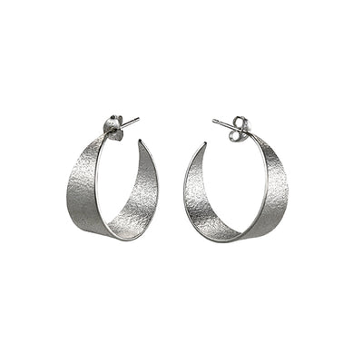 Icarus Medium Hoop Earrings Silver