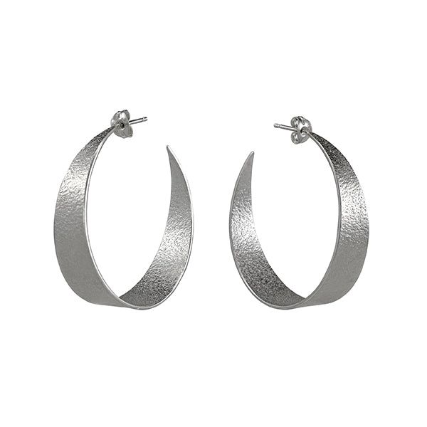 Icarus Large Hoop Earrings Silver
