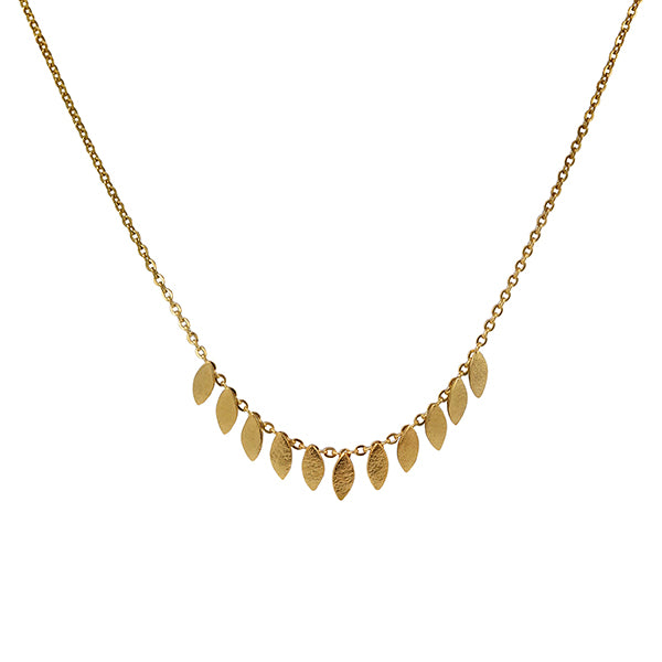 Icarus Short Necklace Gold Plated