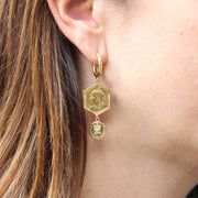EC One Becca Jewellery Hex Coin Drop Earrings