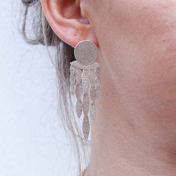 Icarus Waterfall Earrings Silver