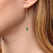 Eline Emerald Drop Earrings