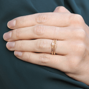 EC One Hannah Bedford recycled gold Contour Granule Ring