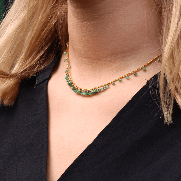Emerald Graduated Necklace