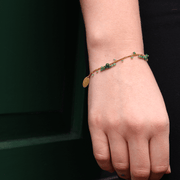 Emerald Scattered Bracelet