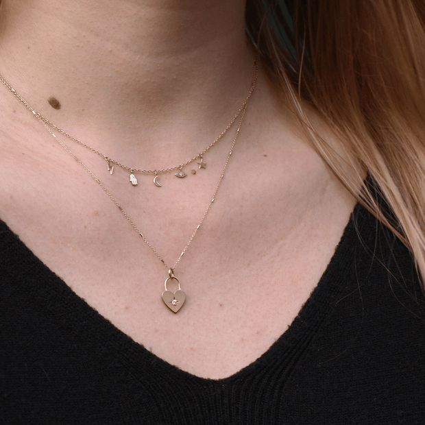 Gold Celestial Mini Charm Necklace