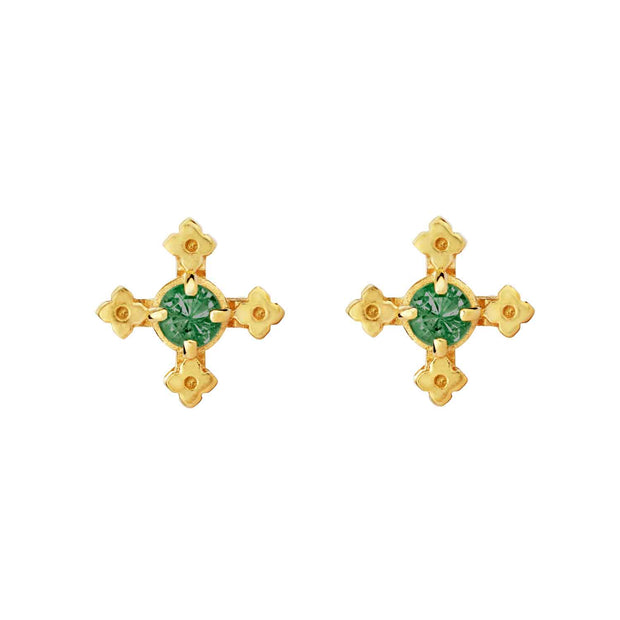 EC One Zoe & Morgan Izil Gold Plated Studs
