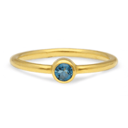 """Jane"" Blue Topaz Gold Ring"