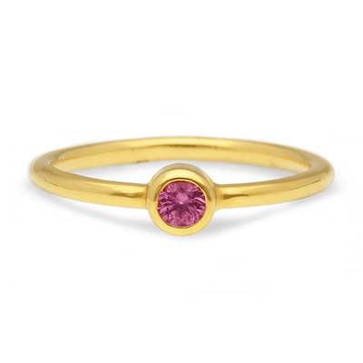 """Jane"" Pink Sapphire Gold Ring"