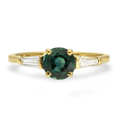 'Jessica' Ethical Teal Sapphire Engagement Ring