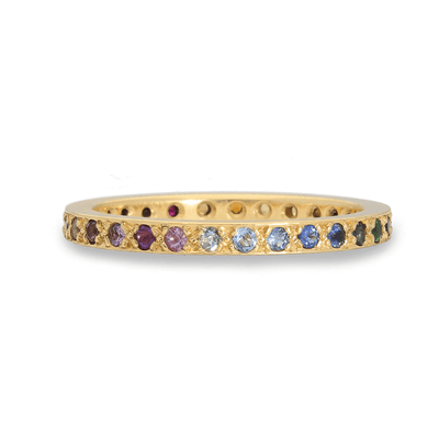 Narrow Kaleidoscope Gold Ring