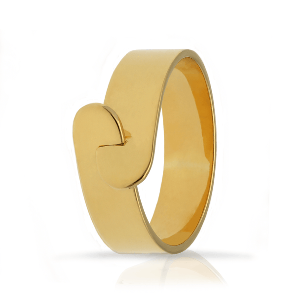 "Megan Collin EC One ""Link"" Gold Plated Ring"