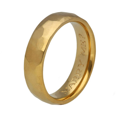 "EC One ""Marry Me?""  Men's Engagement Recycled Gold Ring"