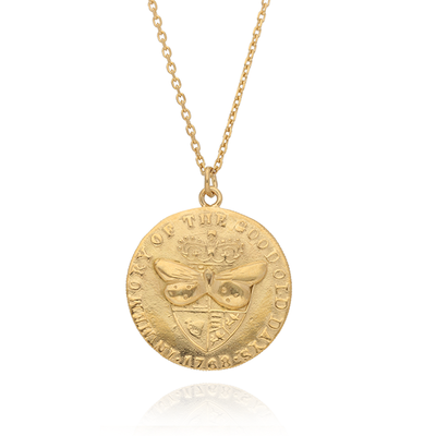 Medium Butterfly Coin Necklace