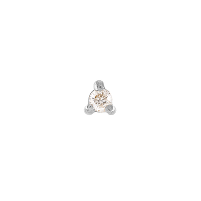 Single White Gold Diamond Stud