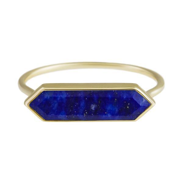 Gold Ring with Hexa Lapis by Metier