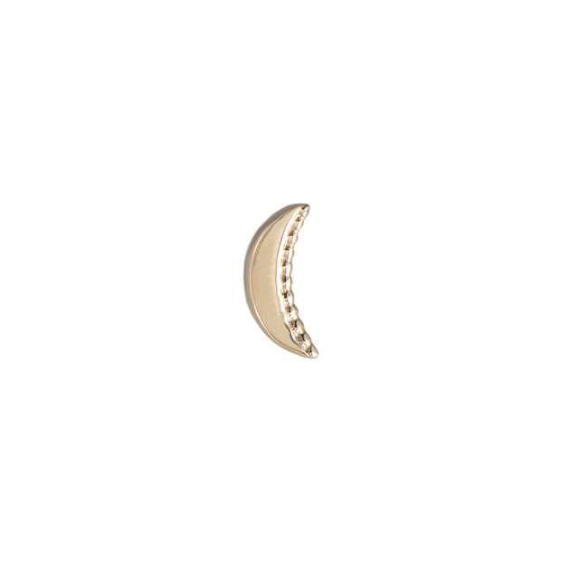 EC One Single Mini DALA Details Crescent Gold Stud Earring