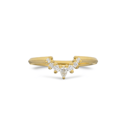 EC One Mini Tiara recycled Gold Diamond Wedding Ring