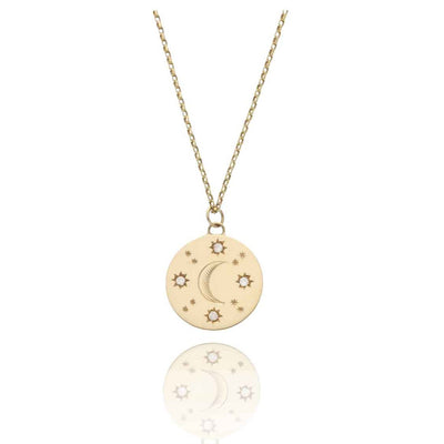 EC One Cece Moon Gold and Diamond Necklace