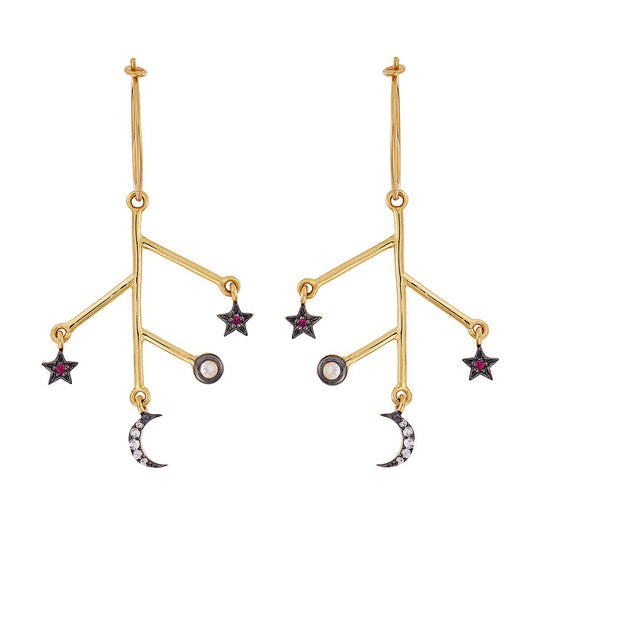 Moon and Star Branch Hoops