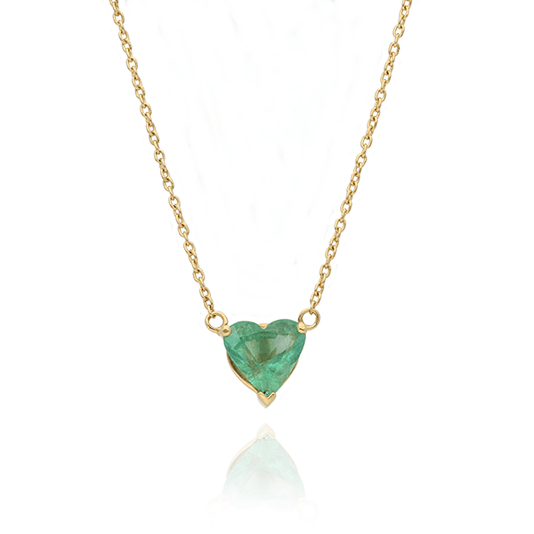 Artisia Heart Emerald Necklace