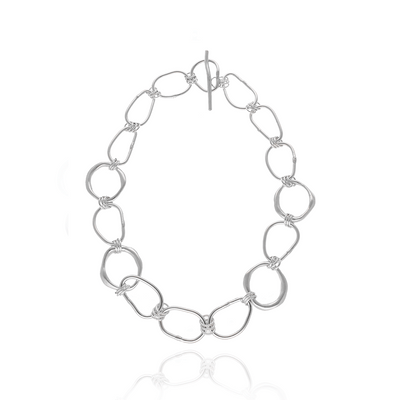 EC One Ella Stern Shape Link Chain recycled Silver Necklace