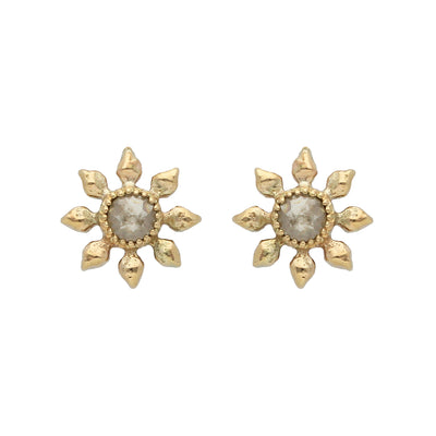 EC One Natalie Perry Grey Diamond Flower Studs