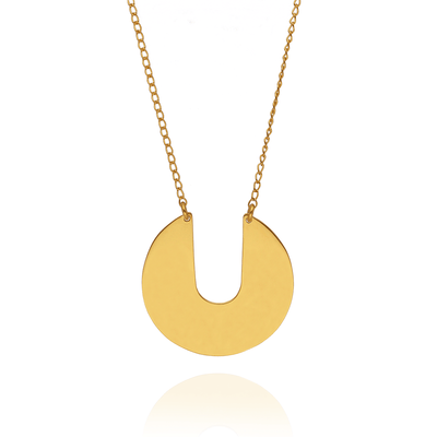 "Megan Collins EC One ""Orb"" Gold Plated Necklace"