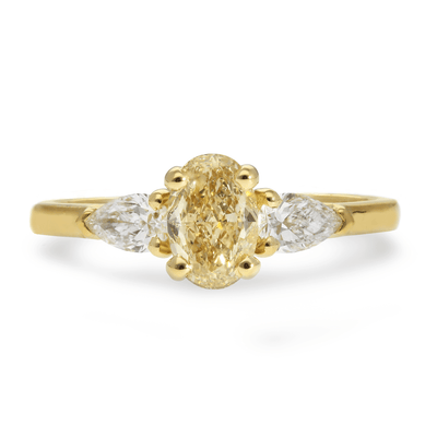 'Phoebe' Yellow Diamond Trilogy Engagement Ring